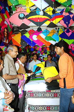 Fighter kite - A kite shop in Lucknow, India