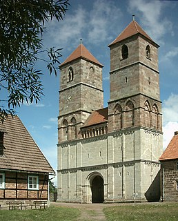 Kloster Veßra Place in Thuringia, Germany