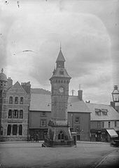 Knighton town clock and war memorial