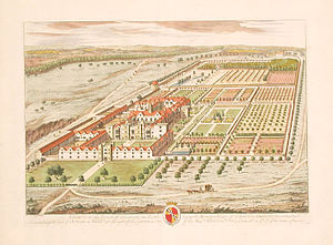 Knole House - Knole from Kip and Knyff's Britannia Illustrata (1709)