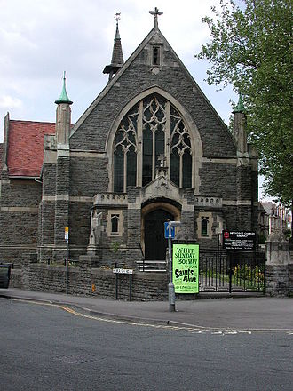 Knowle, Bristol - Knowle Methodist Church at the corner of Redcatch Road and Wells Road
