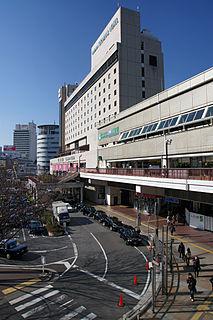 railway station in Kobe, Hyogo prefecture, Japan