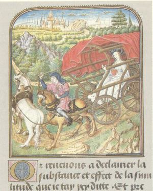 Carriage - Horse-drawn wagon, c. 1455