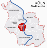 Location of Innenstadt shown in red