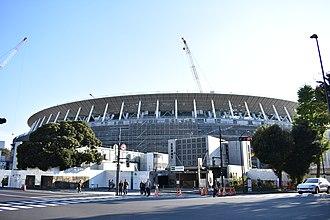 New National Stadium (Tokyo) - Stadium under construction, November 2018
