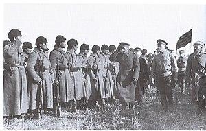 Alexander Kolchak - Kolchak inspects troops