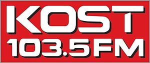 KOST - KOST 103.5 logo used until 2013.