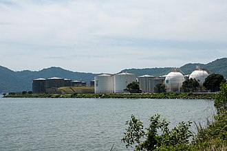 Kota Kinabalu - An oil terminal at Sepanggar Bay operated by Petronas.