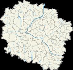 Mapa lokalizacyjna województwa kujawsko-pomorskiego