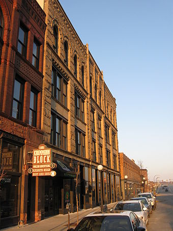 Historic Fourth Street, Sioux City. Kurmmann block sioux city.jpg