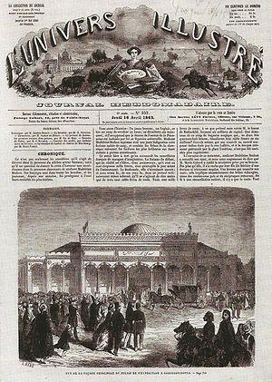 L'Univers illustré - Front page from 1863