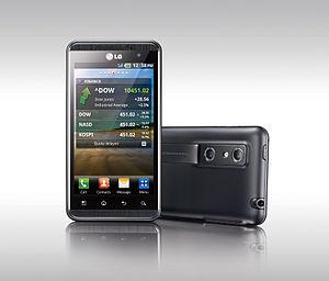 LG '옵티머스 3D' 제품 사진 및 3D 증강현실 컨셉 사진