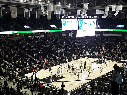 The Coliseum before a 2019 Wake Forest game LJVM floor.jpg