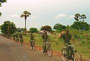 LTTE bike platoon north of Killinochini may 2004