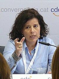 La regidora de Benestar Social de Reus, Montserrat Vilella, a la Jornada sobre làmbit de polítiques socials als ajuntaments (cropped).jpg