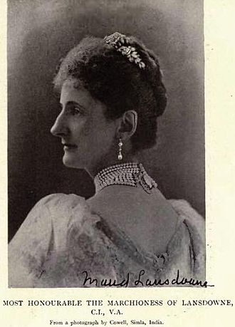 Henry Petty-Fitzmaurice, 5th Marquess of Lansdowne - Lady Maud Evelyn Hamilton, Marchioness of Lansdowne by Cowell, Simla, India