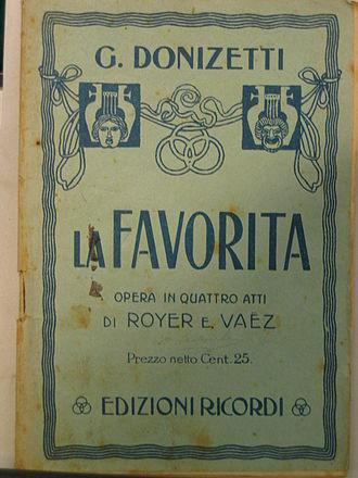 L'ange de Nisida - A souvenir libretto from La favorita