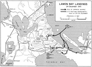 Japanese invasion of Lamon Bay - Lamon Bay landings on December 24, 1941