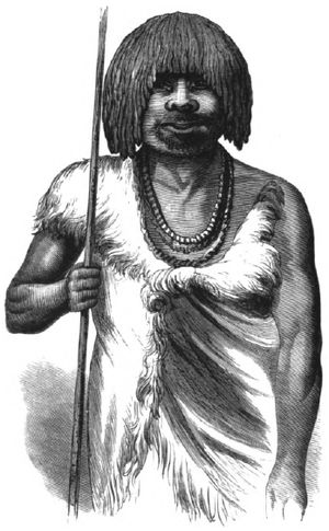 "Aboriginal Tasmanians - Illustration from ""The Last of the Tasmanians"" – Wooreddy, Truganini's husband"