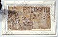 Lastra cristiana con pastore inciso e iscrizione felix in pace, icvr I 2737.JPG