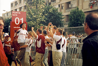 Latvia national football team - Latvian fans at Euro 2004
