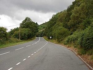 A44 road - A44 at Penlon, near Pant Mawr, Powys