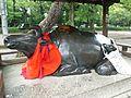Le Temple Shintô Kitano-Ten'man-gû - La statue en bronze d'une vache couchée.jpg