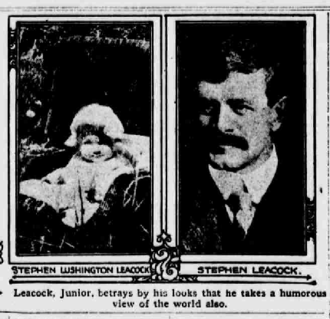 Stephen Leacock - Leacock and his son in 1916.