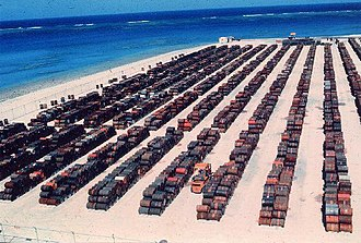 Johnston Atoll - Leaking Agent Orange Barrels in storage at Johnston Atoll, circa 1973
