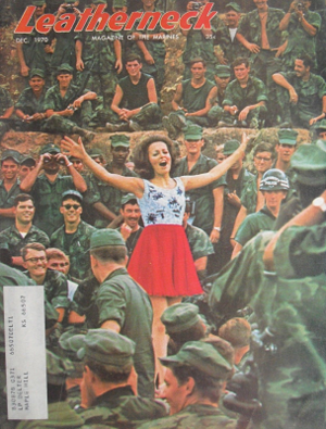 Leatherneck Magazine - December 1970 issue with Miss Alabama Ann Fowler in South Vietnam