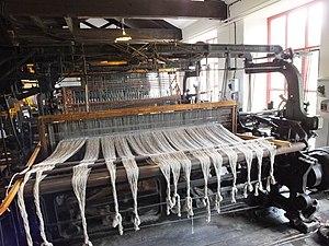 Hattersley loom - Image: Leeds Industrial Museum Hattersley standard loom 7043