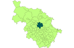 County Borough of Leeds - Image: Leeds within the West Riding in 1971