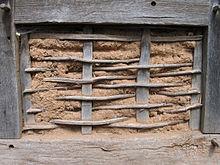 Vakwerk wandconstructie wikipedia - Latwerk houten ...