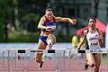 Leichtathletik Gala Linz 2018 women´s 100m hurdles Ivancevic Ayaz-7292.jpg
