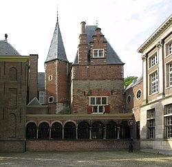 Gravensteen building at square Het Gerecht