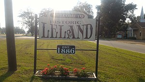 Leland, Mississippi - Image: Leland MS Welcome Sign
