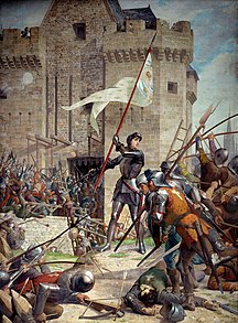 Jeanne d'Arc at the Siege of Orléans di Jules Eugène Lenepveu, dipinto 1886-1890.