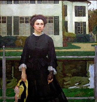 Leo Putz - Portrait of Frieda Blell (1908)