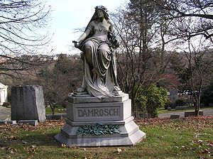 Leopold Damrosch - The grave of Leopold Damrosch in Woodlawn Cemetery