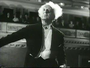 Leopold Stokowski - Screenshot from the 1947 film Carnegie Hall