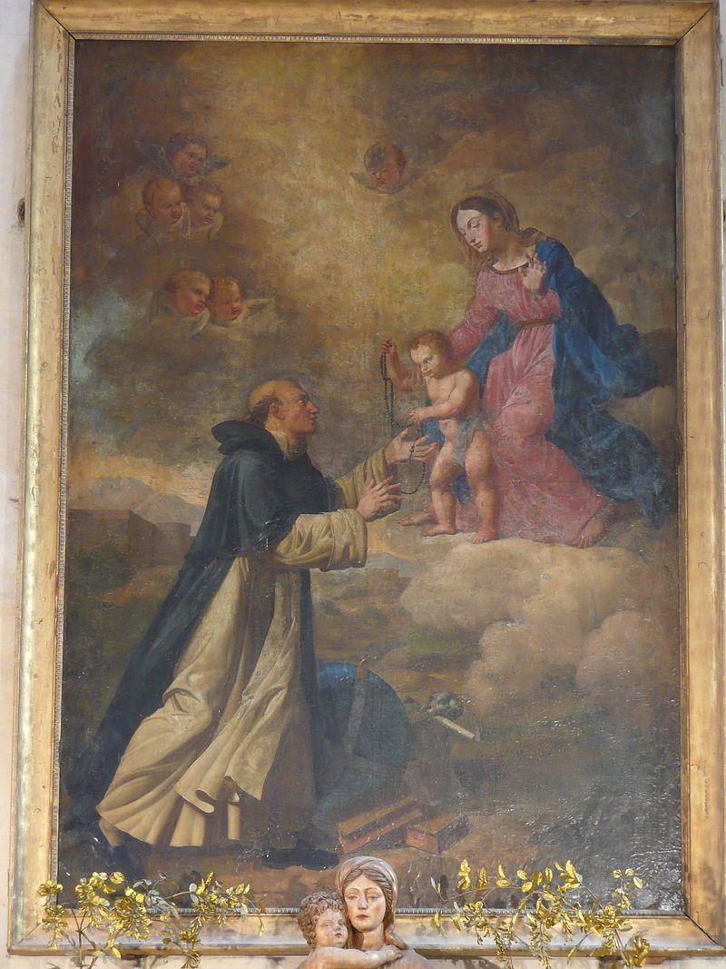 Les Jacobins39,église10,Dominique recevant le Rosaire.jpg
