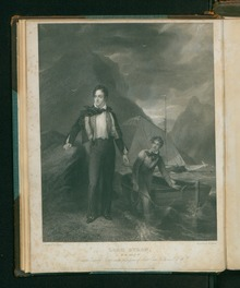 Ritratto di Lord Byron da Letters and journals, 1830