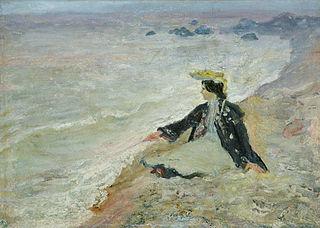 Woman near sea