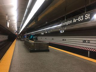 Lexington Avenue–63rd Street station New York City Subway station in Manhattan