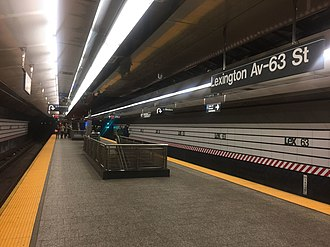 63rd Street Lines - The two 63rd Street Lines meet at Lexington Avenue–63rd Street station