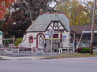 Lancaster, New York - The former Liebler-Rohl Gasoline Station is on the National Register of Historic Places.