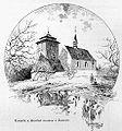 Liebscher, Karel - Kostelik a drevena zvonice v Zelenicich.jpg