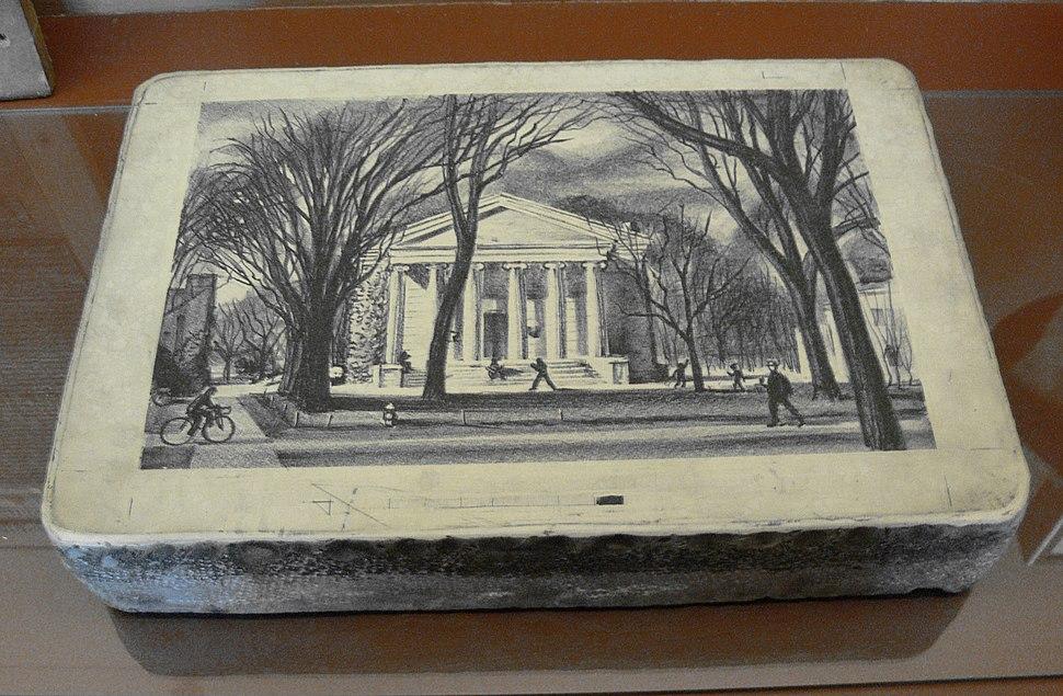 Lithography stone Princeton motif