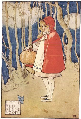 Little Red Riding Hood, illustrated in a 1927 story anthology Little Red Riding Hood - Project Gutenberg etext 19993.jpg