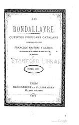 Francesc de Sales Maspons i Labrós: Lo Rondallayre